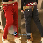 Autumn/Spring Toddlers Boys Baby Child Kids Wrist US Navy Pants Trousers 2-7Yr