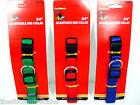 "NEW 24"" ADJUSTABLE DOG COLLAR QUICK RELEASE RED GREEN BLUE NECK PET DOGS COLLARS"