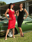 STEADY CLOTHING RED DIVA DRESS PINUP WIGGLE 50's PENCIL VINTAGE RETRO SUPER SEXY