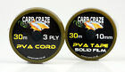 CARP CRAZE AWARD WINNING PVA CORD OR TAPE 30M