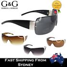 Cool Designer Men Women Fashion Rimless Shield Sunglasses Big Brown Wrap