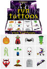 CHILDRENS KIDS TEMPORARY HALLOWEEN TATTOOS - BOYS GIRLS PARTY LOOT BAG FILLERS