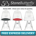 Charles Ray Eames Inspired Eiffel Chrome DKR Lounge Dining Chairs