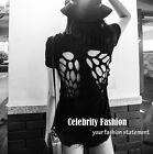 tp89 Celebrity Style Vintage Cut Out Black Angel Wings T-shirt  Tee Tank Top