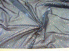 Discount Fabric 4 way Stretch Mesh Black with Blue/Green Holographic Sequin 81LC