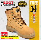 Oliver Work Boots, 55232z, Steel Toe Cap Safety, Lace-Up, Side Zip, In 'Wheat'