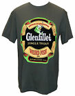 Weird Fish Mens 'Glenfillet' Whisky Printed T-Shirt / Tee Dark Grey Front Print