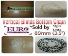 """Vertical Blind Replacement  Chain 89mm(3.5"""") slats - White/ Beige/ Black -Spares"""