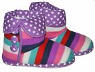 Girls Dual Size Knited Boot Slippers 13/1 - 2/3 - 4/5