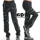 PUNK VISUAL KEI SLIM LOOK MUMMY 71204 BLACK PANTS size S-XL
