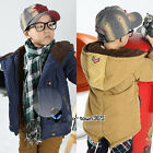 Boys Baby Child Kids Winter Warm Indian Badge Coat Cotton-Padded Jackets 3-7Yr