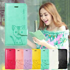 Cute Domi Cat Series Flip PU Leather Stand Case Cover Wallet For Apple iPhone 5C
