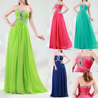 Shinning Formal Wedding Ball Gown Maxi Evening Prom Party Long Dress UK SZ 6-20