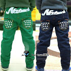 Winter Warm Thick Boys Baby Child Kids Letter Star Pocket Trousers Pants 3-9Y