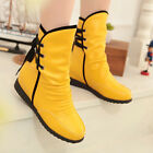 Womens Ladies Fashion Back Lace Up Ruched Pleated Hidden Wedge Ankle Boots Shoes
