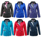 C29 Womens Quilted Padded Nautical Lined Jacket Coat Top Sizes: 8-16