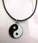 A Wax Cord Chinese Feng Shui Ying Yin Yang AMULET NECKLACE Charm Pendant .