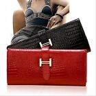 Fashion Women Cowhide wallet Clutch Case Lady Long Handbag Wallets Purse 4colors