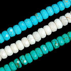 "4x8mm Faceted Turquoise Rondelle Beads 15.5"" Pick Color"