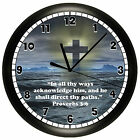 CROSS WALL CLOCK BIBLE VERSE PROVERBS 3:6 CHOOSE ANY VERSE SCRIPTURE RELIGIOUS