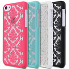 Damask Vintage Pattern Rubberized Protector Hard Case For Apple iPhone SE 5S 5