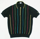 New Ian Poulter Golf Midnight Black Sweater Polo Shirt Men's Size M, L
