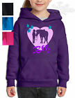 HORSE PONY RIDING BFF,Best freinds forever HOODIE,*Glitter* GIRL PONY HEART BFF