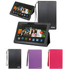 "Leather Folio Stand Cover Case For Amazon Fire HDX / Kindle Fire HDX 8.9"" Tablet"