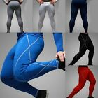 Men's Compression Tights Stretch Sport Athlete Gym Long Pants Trousers Leggings