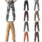 Fashion Camouflage Camo Military Army Cargo Combat Pockets Long Pants Trousers