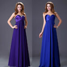 New Evening Wedding Bridesmaids Dress Chiffon Party Formal Prom Maxi Long Dress