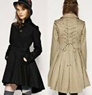 CJ92 WOMENS CORSET JACKET BEIGE BLACK GOTHIC RETRO NWT