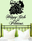Happy Girls Are The Prettiest Wall Quotes Decor,Wall Stickers,Wall Decals w161