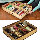 12 Pair Shoes Storage Organizer Holder Shoe Organiser Bag Box Under Bed Closet