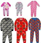 KIDS ONESIE GIRLS BOYS TODDLER ALL IN ONE JUMPSUIT PYJAMAS AGES 2-10 BNWT