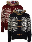New Mens Tokyo Laundry Knitted Jacket Fleece Lined Nordic Fairisle Knit Hoodie