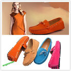 New Women's Gommino Casual Suede Flats Leather Shoes Driving shoes Slip On