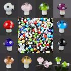 Wholesale Lampwork Glass Mushroom Polka Dots Loose Spacer Beads Crafts Findings