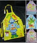 Childrens Kids APRON PVC Coated Wipe Clean Plastic Waterproof Cooking Art Craft