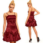 BALLKLEID BORDEAUX KLEID COCKTAILKLEID BANDEAU Empire ROT S M L 34 36 38 #A422