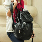 Stylish Faux Leather Womens Mens Casual Backpack Travel Bag Knapsack School Bag