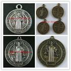 Silver/Bronze Saint Benedict Medal Cross Charms 30 21mm/12 28mm/3 53mm B82 B83