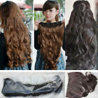 New One Piece Five clips Fashion Long Girls Wavy Wig Women Hair Extend Wigs Hot