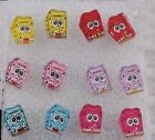SPoNGeBoB SQUaRePaNTs EaRRiNGs CaRTooN, 6colours new for 2014 movie stud