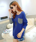 Newly Women's Casual Soft Batwing Sleeve Loose Crew Neck Fashion T-Shirt Top Tee