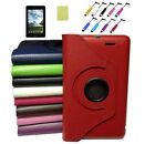 "360 Rotating Leather Case Cover & Film +Stylus For 7"" ASUS MeMO Pad ME172V ME172"