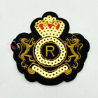 Real Crown Paillette Sew/Iron On Patch 7cm M0167