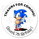 Sonic the Hedgehog Personalized Birthday Sticker Gift Favor Party Label 2.5