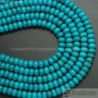 Natural Turquoise Gemstone Rondelle Beads Spacer 4mm 6mm 8mm 10mm 12mm 16'' Pick