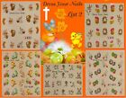 EASTER  Nail Stickers Water Decals Nail Art Transfers DIY Eggs Chicks Rabbit -#2